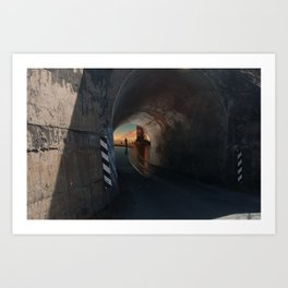 Tunnel to the Gods Art Print