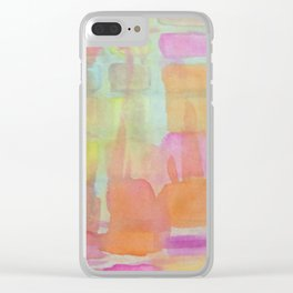 Pastel Melts Clear iPhone Case