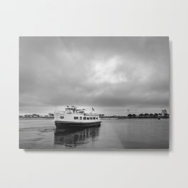 Ruturn to the shore before the storm Metal Print