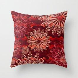 Ice Crystal Mandala Throw Pillow
