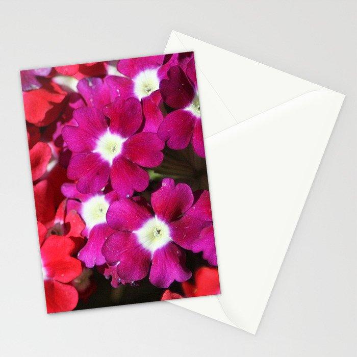 verbena flowers Stationery Cards