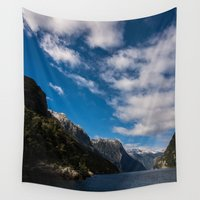 new zealand Wall Tapestries featuring New Zealand by Michelle McConnell