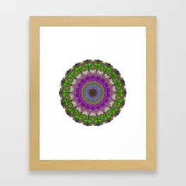 Soft Light - Kaliedescope Mandala By Sharon Cummings Framed Art Print