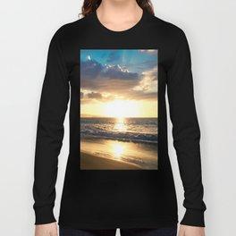 Poolenalena Beach Sunset Makena Maui Hawaii Long Sleeve T-shirt