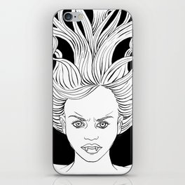 Angry Vampire Girl iPhone Skin