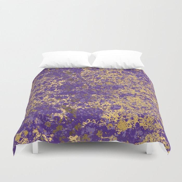 Purple and Gold Patina Design Bettbezug
