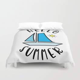 Hello Summer Sailing Duvet Cover