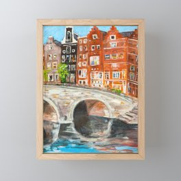 Emperor's Canal in Amsterdam Framed Mini Art Print