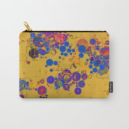 Vibrant Multi Color Abstract Design Carry-All Pouch