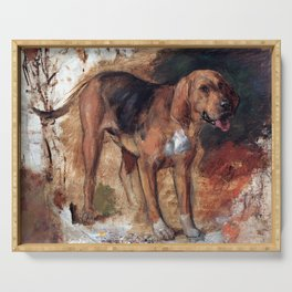 William Holman Hunt Study of a Bloodhound Serving Tray