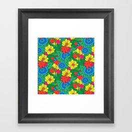 Vector Flowers Framed Art Print