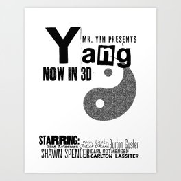 Yang: The Movie Art Print