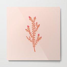 leaf hearts Metal Print