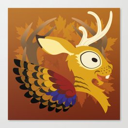 Silly Bestiary: Wolpertinger Canvas Print