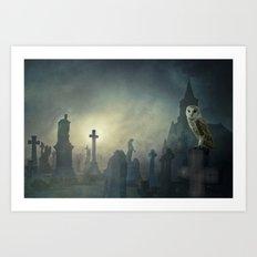 In the misty moonlight Art Print