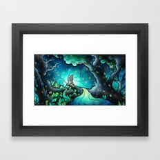 Love goes on and on Framed Art Print