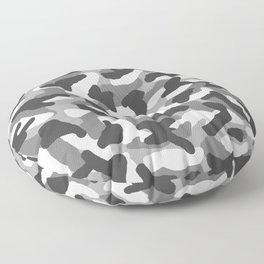 Grey Gray Camo Camouflage Floor Pillow
