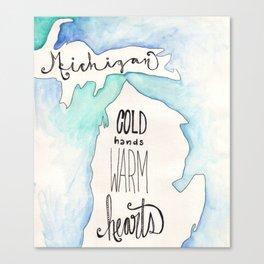 A Michigan winter Canvas Print