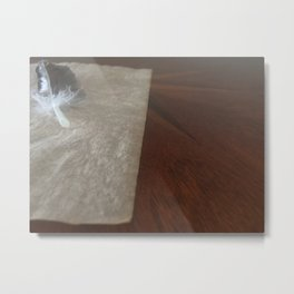 Quill On Parchment Metal Print