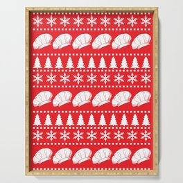 Chef and Foodie Ugly Christmas Sweater Serving Tray