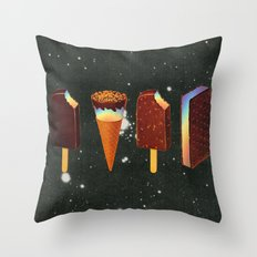 Chocodelic cream Throw Pillow