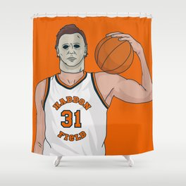 Hoops Legend Michael Myers Shower Curtain