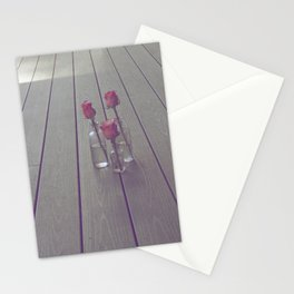 Simple Pink Roses Stationery Cards