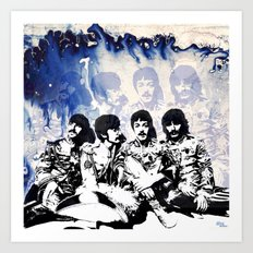 John-Paul-George-Ringo Blues Art Print