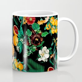 Fruit and Floral Pattern Coffee Mug
