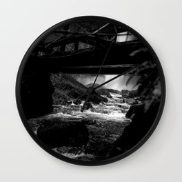 Waterfall Bridge Wall Clock