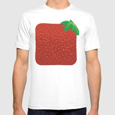 Square Strawberry Mens Fitted Tee MEDIUM White