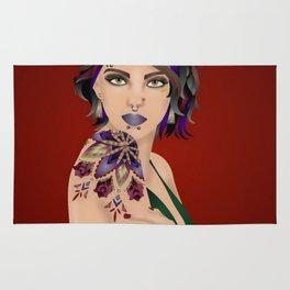Punk Tattoo Girl Rug