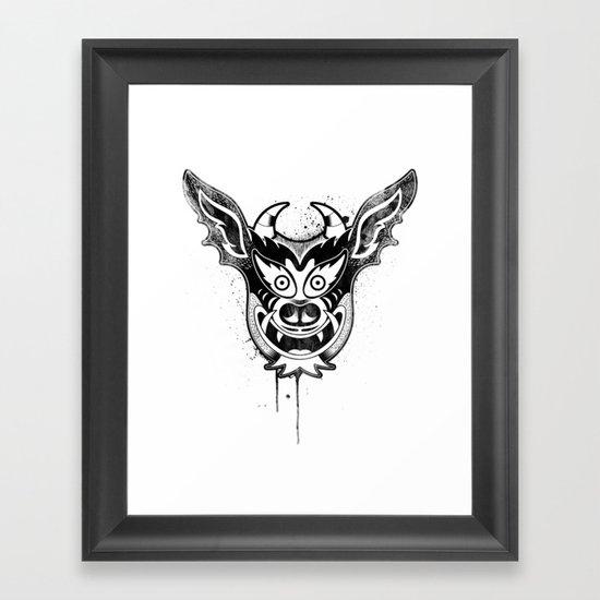 Yare Devil mask #1 Framed Art Print