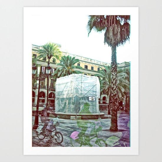 Friday 9 November 2012: veer ever illusively lit Art Print