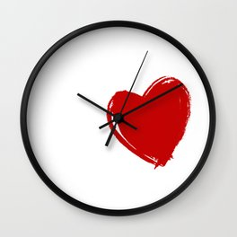 Hula Hoop Love Heart Exercise Hooping Dancing Gift Wall Clock