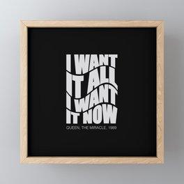 Best English rock band song. For good music lovers Framed Mini Art Print