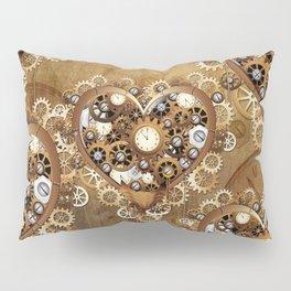 Steampunk Heart Love Pillow Sham