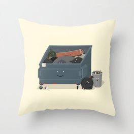 BandNames : Garbage Throw Pillow