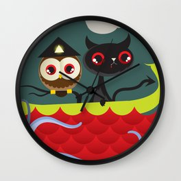 The Aleister & the Pussycat Wall Clock