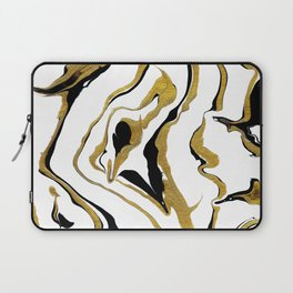 Gold And Black Opulence Laptop Sleeve