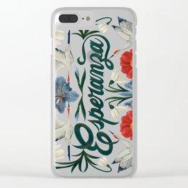 Esperanza (Hope in Spanish) Clear iPhone Case