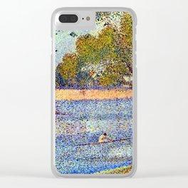 Georges Seurat The Seine and la Grande Jatte - Springtime Clear iPhone Case