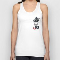pocket Tank Tops featuring Pocket Pal by Dooomcat