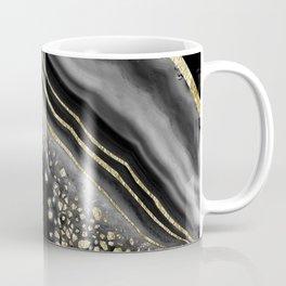 Black Night Agate Gold Foil Glam #2 #gem #decor #art #society6 Coffee Mug