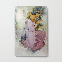 Praying Angel Metal Print