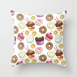 Decadent Delights Throw Pillow