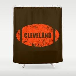 Cleveland Football Shower Curtain