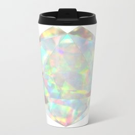Milky White Opal Metal Travel Mug