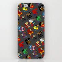 super heroes iPhone & iPod Skins featuring Super Heroes by nobleplatypus