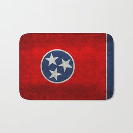 Tennessee State flag, Vintage Retro Style Bath Mat